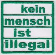 Kein Mensch ist Illegal - gestickt-