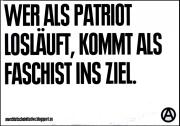 Wer als Patriot losläuft, kommt als Faschist ins Ziel (20Stück)