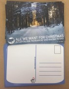 Postkarte ALL WE WANT FOR CHRISTMAS