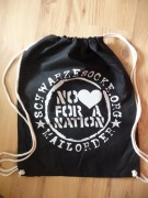 Schwarze Socke -No Love for a Nation Turnbeutel -