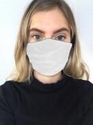 1-lagige Stoffmaske für Mund & Nase (weiß)