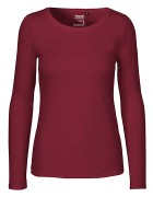 Long Sleeve klein/tailliert - Bordeaux