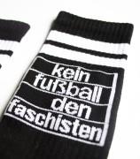Tennissocken - Kein Fußball den Faschisten - black