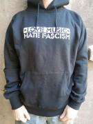 LOVE MUSIC HATE FASCISM (FAIRTRADE) Größe L