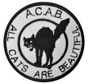 A.C.A.B. - Katze  weiß: stick schwarz