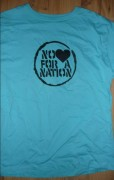 NO LOVE FOR A NATION  Größe XL- hellblau - ( Fairtrade )