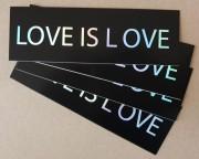 love is love – Eggshell Aufkleber (hologram) (15 Stück)
