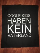 COOLE KIDS HABEN KEIN VATERLAND - Backpatch