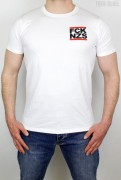 True Rebel T-Shirt FCK NZS Pocket Print White