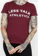 Less Talk Shirt Athletics Burgundy