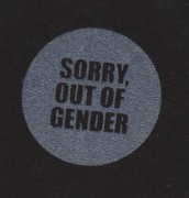 Sorry, out of Gender
