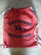 REFUGEES WELCOME - Turnbeutel-