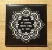 Love Skills Design - DU FICKER, Quadrat - Kühlschrank Magnet