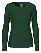 Long Sleeve klein/tailliert - Bottle Green