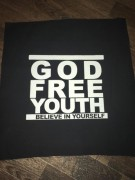 GOD FREE YOUTH -schwarz- Backpatch