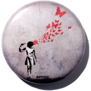 Banksy - Butterfly girl